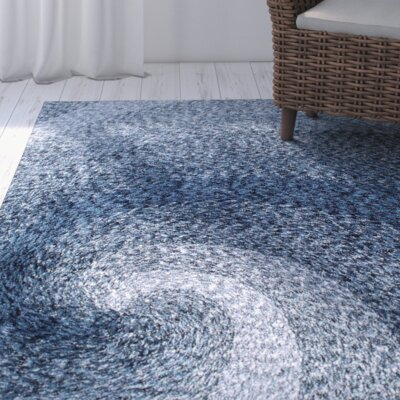 Salina Hand-Tufted Blue Area Rug Rug Size: Rectangle 5 x 8