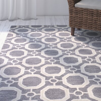 Mirabal Hand-Tufted Grey Area Rug