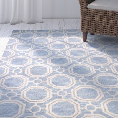Mirabal Hand-Tufted Light Blue Area Rug