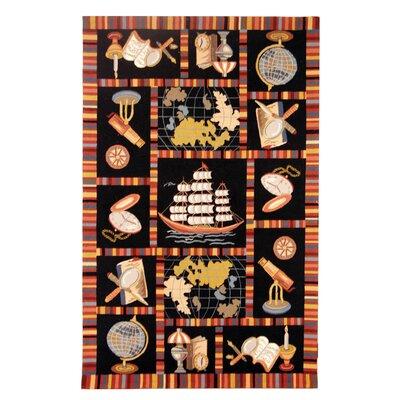 Eldridge Black Area Rug Rug Size: Rectangle 53 x 83