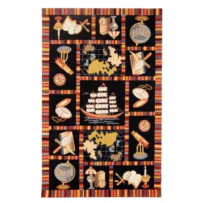 Eldridge Black Area Rug Rug Size: 53 x 83