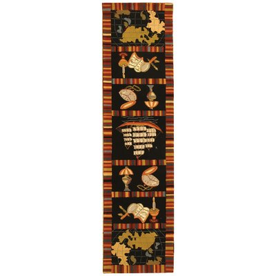 Eldridge Black Area Rug Rug Size: Runner 26 x 8