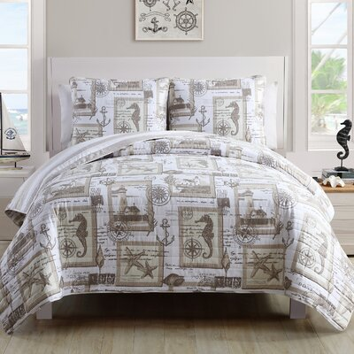 Merion 3 Piece Quilt Set Size: Queen
