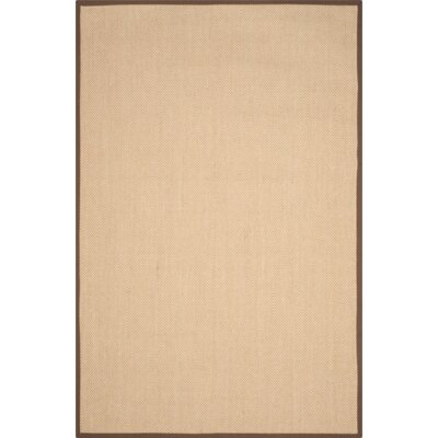 Hillsborough Maize / Brown Area Rug Rug Size: 6 x 9