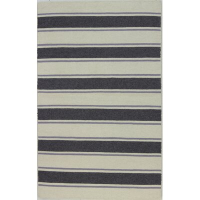 Randall Ivory/Grey Area Rug Rug Size: 86 x 116