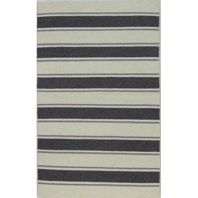 Randall Ivory/Grey Area Rug Rug Size: 36 x 56