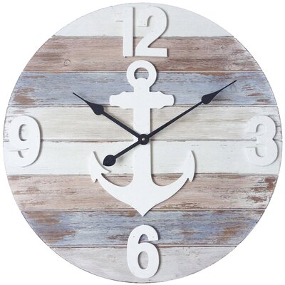 Oversized Round Wood Wall Clock