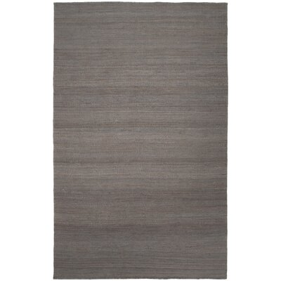Rockridge Hand-Woven Dark Brown Area Rug Rug size: 5 x 8