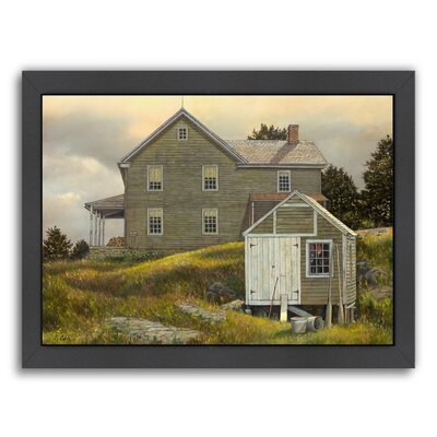 Buoy Shed Framed Painting Print