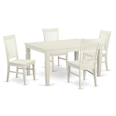 Pennington 5 Piece Wood Dining Set Color: Off-White