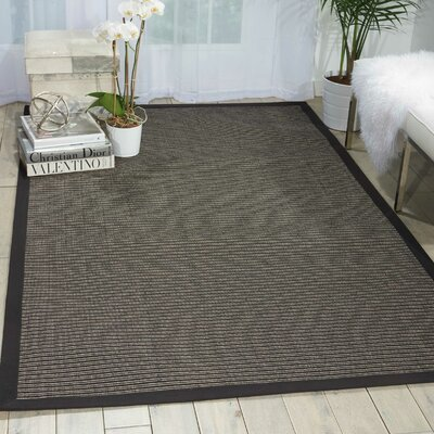 Stephenson Black Pearl Indoor/Outdoor Area Rug Rug Size: Runner 26 x 8