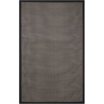 Stephenson Black Pearl Indoor/Outdoor Area Rug Rug Size: Rectangle 9 x 12