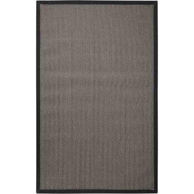 Stephenson Black Pearl Indoor/Outdoor Area Rug Rug Size: 5 x 8