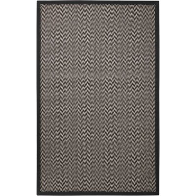 Stephenson Black Pearl Indoor/Outdoor Area Rug Rug Size: 9 x 12