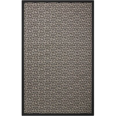 Kennett Black/Cream Indoor/Outdoor Area Rug Rug Size: Runner 2'6