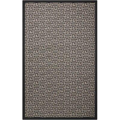 Kennett Black/Cream Indoor/Outdoor Area Rug Rug Size: 8 x 10