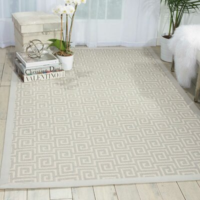 Kennett Cream Indoor/Outdoor Area Rug Rug Size: Rectangle 12' x 15'