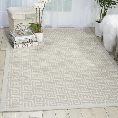 Kennett Cream Indoor/Outdoor Area Rug Rug Size: 5 x 8