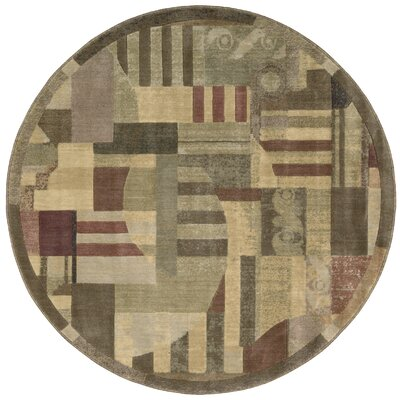Greenwich Hand-Woven Brown Area Rug Rug Size: Round 56