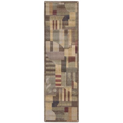 Greenwich Brown Area Rug Rug Size: Runner 23 x 8