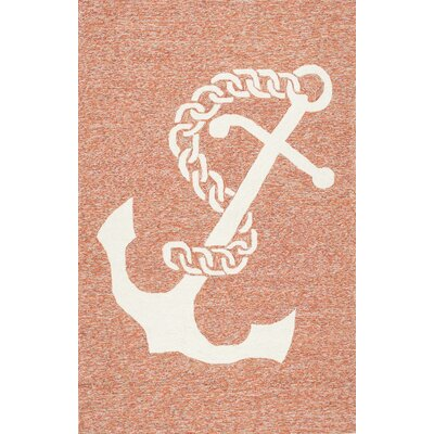 Augustine Hand-Hooked Terra�Area Rug Rug Size: 8 x 10