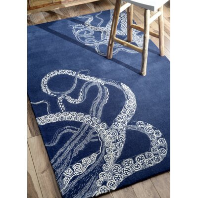 Giuseppina Blue Wool Hand-Tufted Area Rug