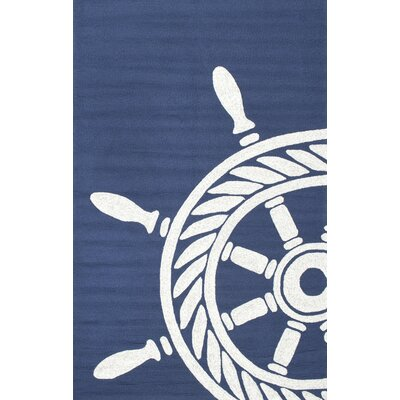 Crestwood Hand-Hooked Navy Area Rug