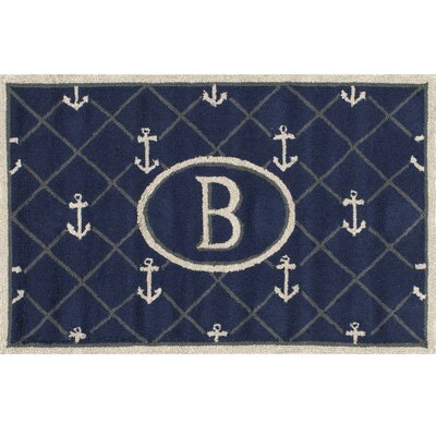 Dolmen Letter Doormat Mat Size: Rectangle 26 x 4, Letter: B