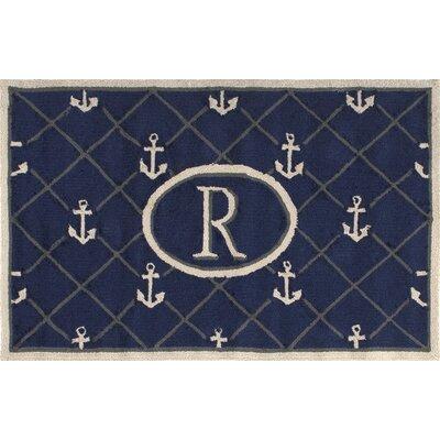 Dolmen Letter Doormat Mat Size: Rectangle 26 x 4, Letter: R