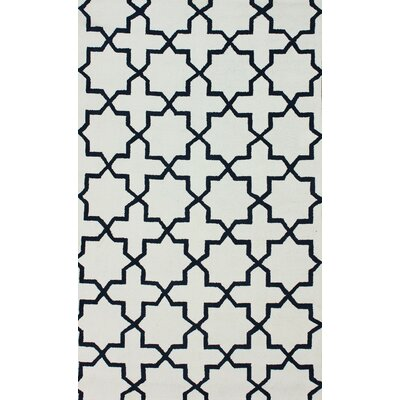 Breakwater Bay Talamore Regal Blue Trellis Area Rug