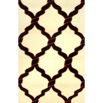 Hazeltine Black Radene Rug Rug Size: Rectangle 76 x 96