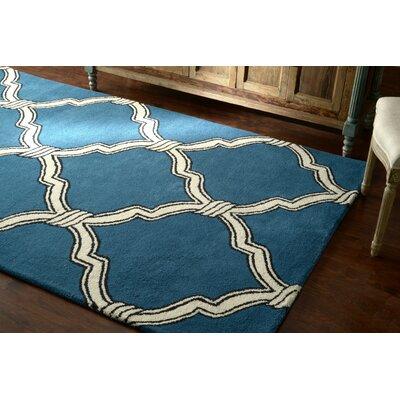 Hazeltine Hand Tufted Wool Blue Area Rug Rug Size: 76 x 96
