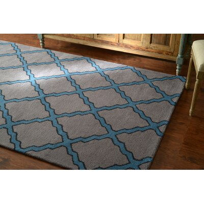 Breakwater Bay Hazeltine Hand-Tufted Gray Area Rug