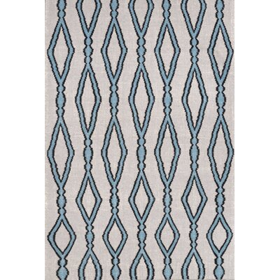 Hazeltine Light Blue Rakid Rug Rug Size: 5 x 8