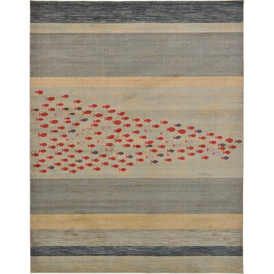 Foxfield Blue Area Rug Rug Size: 8 x 112
