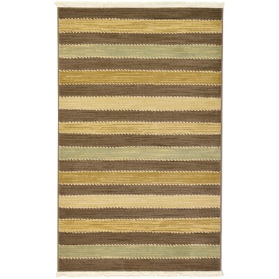 Foxfield Brown Area Rug Rug Size: 33 x 53