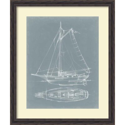 Yacht Sketches IV Framed Painting Print