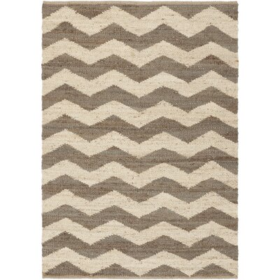 Woodcroft Beige/Brown Chevron Rug Rug Size: 2' x 3'