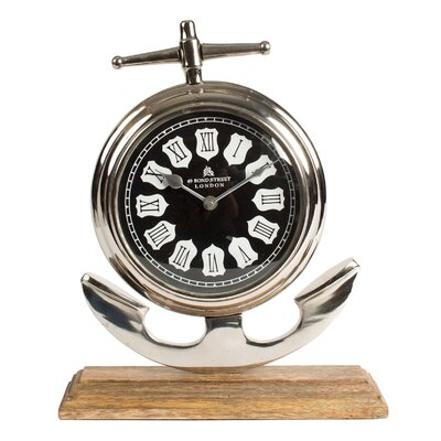 Table Clock Size: 13H x 10.5W x 4D