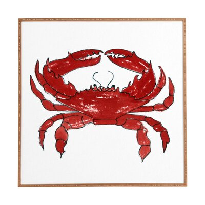 Crab Framed Painting Print