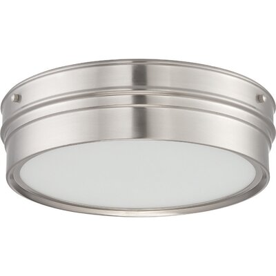 Yorkshire 1-Light Flush Mount Finish: Brushed Nickel