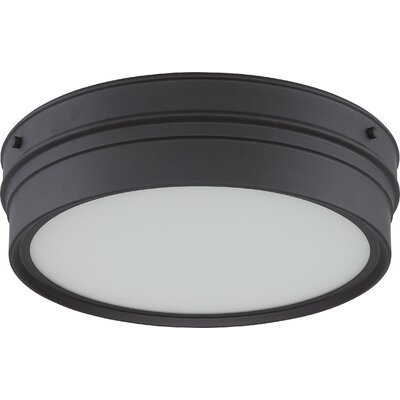 Yorkshire 1-Light Flush Mount Finish: Aged Bronze