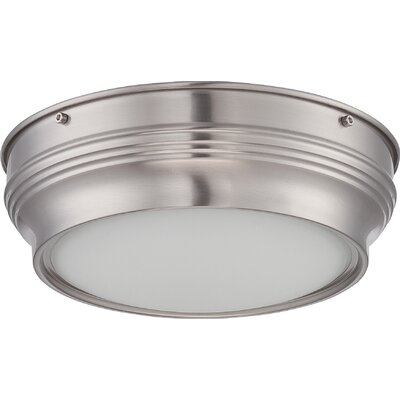 Harwyn 1-Light Flush Mount Finish: Brushed Nickel