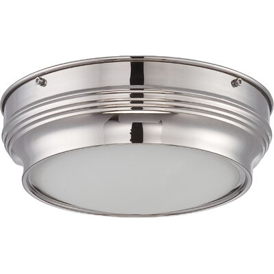 Harwyn 1-Light Flush Mount Finish: Polished Nickel