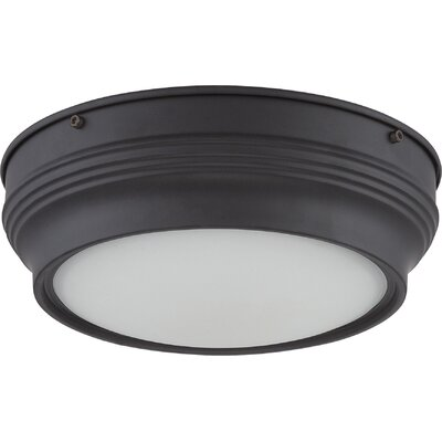 Harwyn 1-Light Flush Mount Finish: Aged Bronze