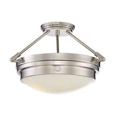 Burnett 2-Light Semi-Flush Mount Finish: Polished Nickel