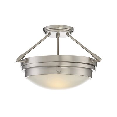 Aralene 2-Light Semi-Flush Mount Finish: Satin Nickel