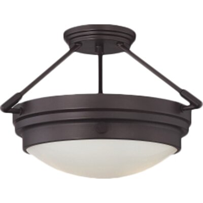 Aralene 2-Light Semi-Flush Mount Finish: English Bronze