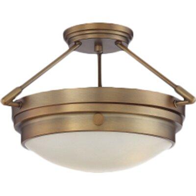 Aralene 2-Light Semi-Flush Mount Finish: Warm Brass