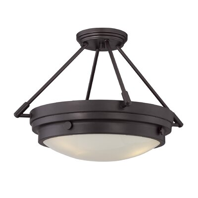 Aralene 3-Light Semi-Flush Mount Finish: English Bronze
